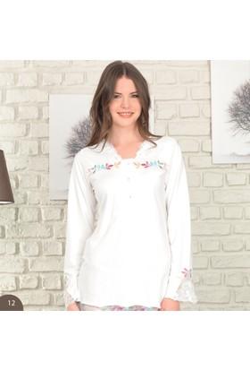 BH2446 Baha Güpürlü Bayan Pijama Takımı BH2446 041