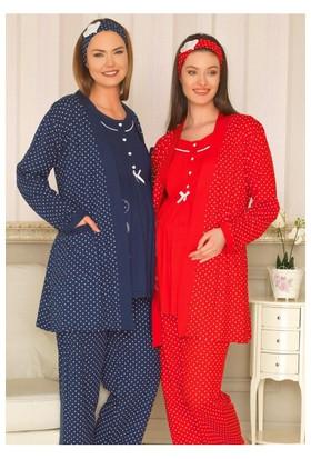 BH2927 Baha 3 lü Lohusa Pijama Takımı BH2927 003