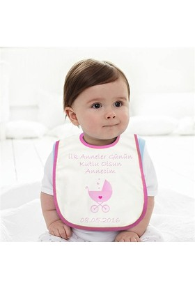 BuldumBuldum İlk Anneler Günü Arabalı Bebek Önlüğü - Kız