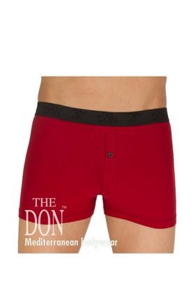 The Don Hipsters Koyu Kırmızı Renk Erkek Boxer