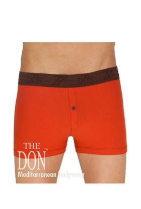 The Don Hipsters Koyu Turuncu Renk Erkek Boxer