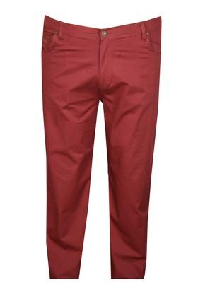 FaLa Jeans Büyük Beden Keten Pantolon Bordo