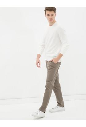 Koton Erkek Dar Kesim Pantolon Kahverengi