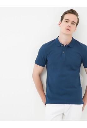 Koton Erkek Polo Yaka T-Shirt Lacivert