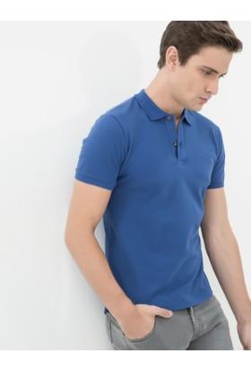 Koton Erkek Polo Yaka T-Shirt Saks