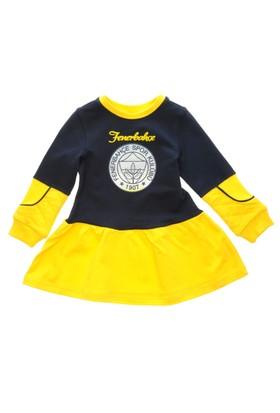 Fenerbahçe Lisanslı Kız Çocuk Elbise Lacivert