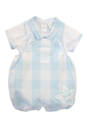 Tuc Tuc Ekose T-Shirt Salopet Takım Baby Star