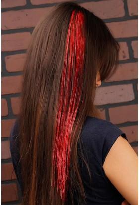 Kırmızı Parlak Renk Tasarımlı Bayan Postij