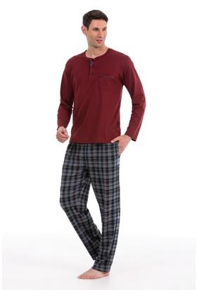 Pierre Cardin Erkek Ekose Pijama Takım 5316