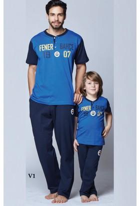 RolyPoly Lisanslı Baba Oğul Fenerbahçe Pijama Takım 8257