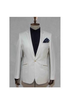 Victor Baron Keten Slim Fit Blazer Ceket