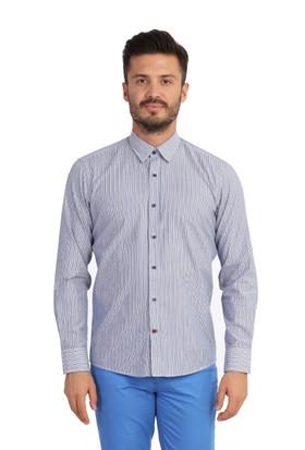 Kiğılı Uzun Kol Çizgili Slimfit Gömlek