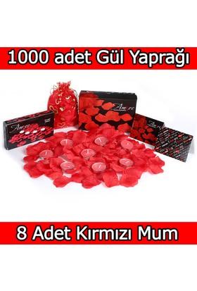 Chavin 1000 Adet Gül Yaprağı-Gül Yaprakları-Kırmızı Mum yap2