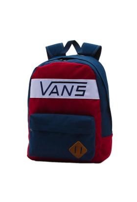 Vans V2Tmj54-Old Skool Plus Ba Bordo Lacivert Erkek Sırt Çantası