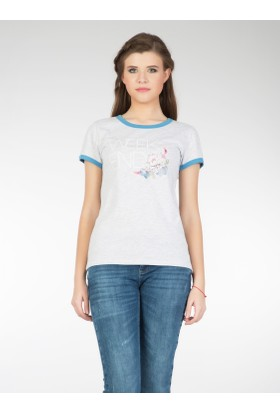 Colin's Gri Kadın T-Shirt Kısa Kol