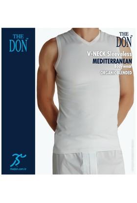 TheDON Erkek V-Neck Sleeveless Beyaz Renk