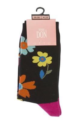 TheDON Pamuk Çiçek Desenli Bayan Çorap 2'li