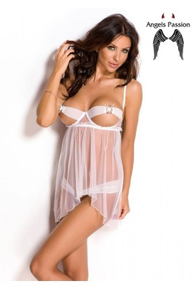 Angels Passion Beyaz Sexy Babydoll