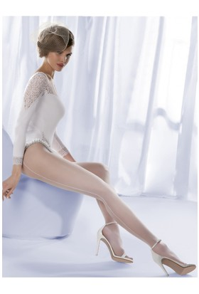 Gabriella Beyaz Külotlu Çorap charme01 bianco
