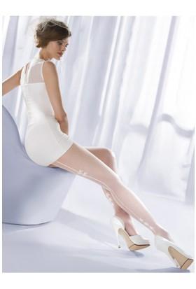 Gabriella Beyaz Külotlu Çorap charme02 bianco