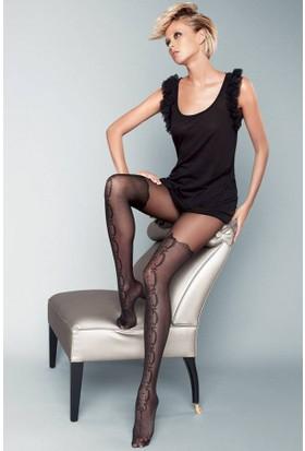 Veneziana 20 den Siyah Külotlu Çorap STIVALE NERO