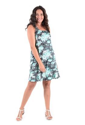 Tepa Gri Çiçekli Elbise