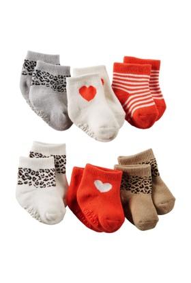 Carter's Kız Bebek 6'lı Çorap 51455