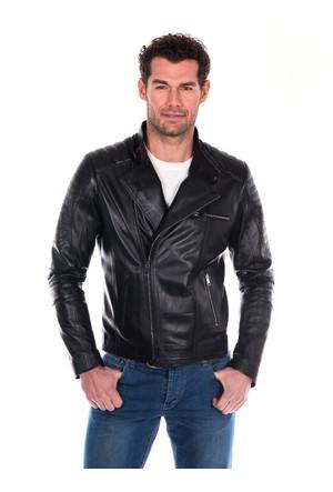 İparelde ES110 Siyah Erkek Deri Ceket