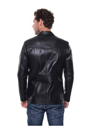 İparelde EBLAZER Siyah Erkek Deri Ceket