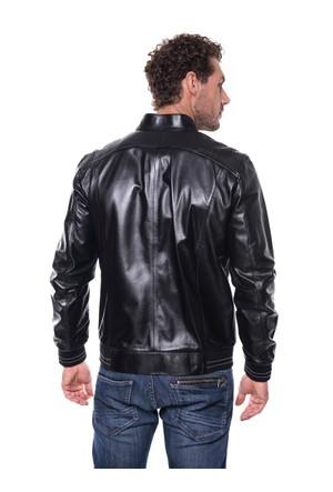 İparelde E528 Siyah Erkek Deri Ceket