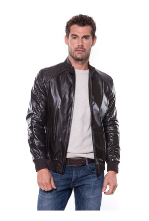 İparelde E528 Erkek Kahverengi Deri Ceket