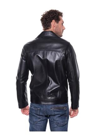 İparelde E68 Siyah Erkek Deri Ceket