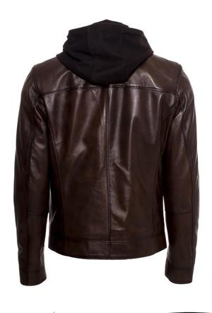 İparelde E88K Kahverengi Erkek Deri Ceket