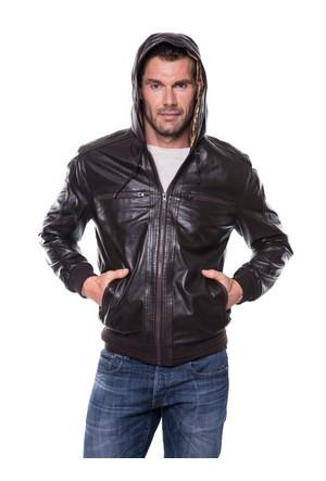 İparelde E5543 Erkek Kahverengi Deri Ceket