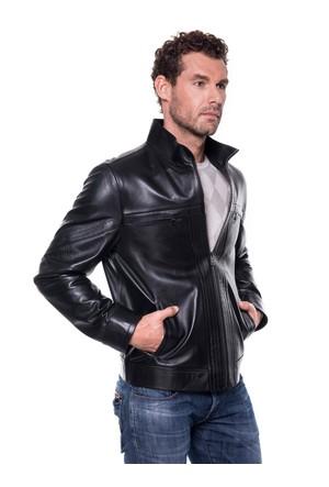 İparelde E5294 Siyah Erkek Deri Ceket