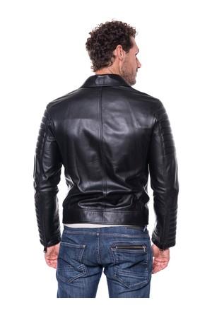 İparelde E3151 Siyah Erkek Deri Ceket