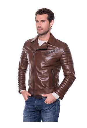 İparelde E3151 Kahverengi Erkek Deri Ceket