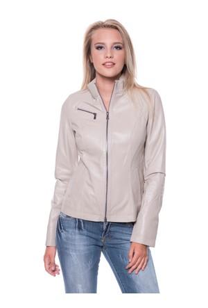 İparelde B94 Bej Bayan Deri Ceket