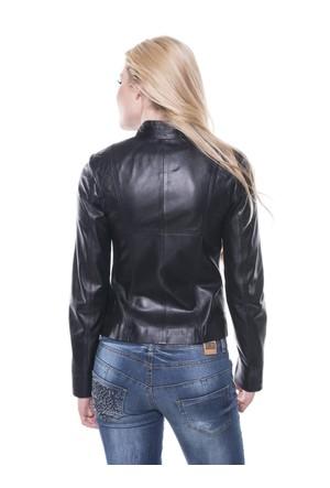 İparelde B92-Gold Siyah Bayan Deri Ceket