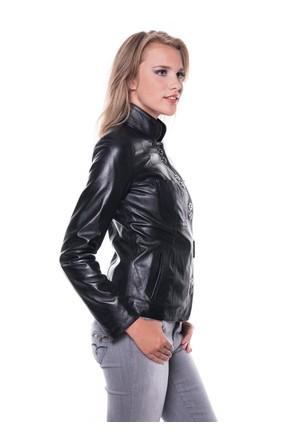 İparelde B52 Siyah Bayan Deri Ceket