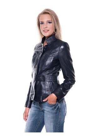 İparelde B52 Lacivert Bayan Deri Ceket