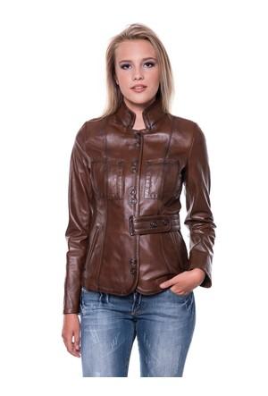 İparelde B52 Kahverengi Bayan Deri Ceket