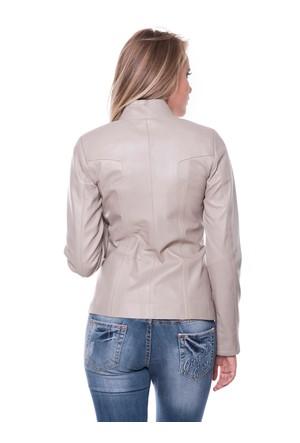 İparelde B52 Bej Bayan Deri Ceket
