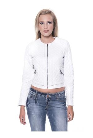 İparelde B103 Beyaz Bayan Deri Ceket