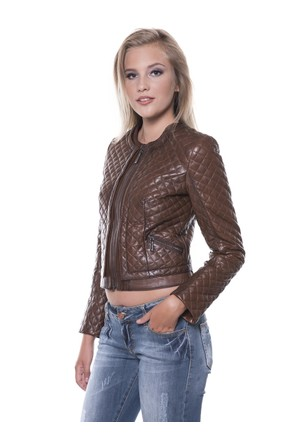 İparelde B103 Kahverengi Bayan Deri Ceket