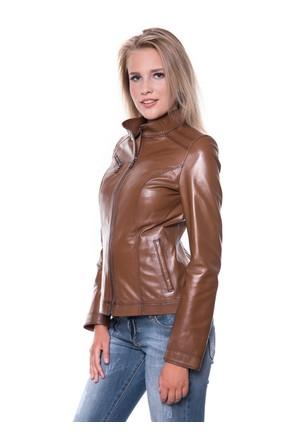 İparelde B94 Kahverengi Bayan Deri Ceket