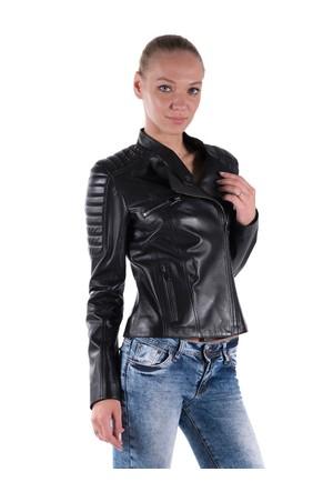 İparelde B60 Siyah Bayan Deri Ceket