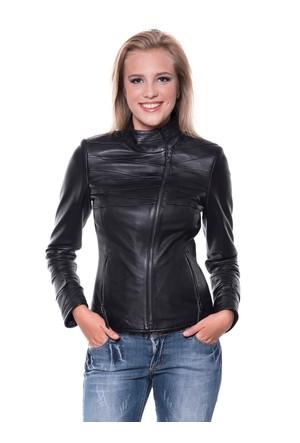 İparelde B409 Siyah Bayan Deri Ceket