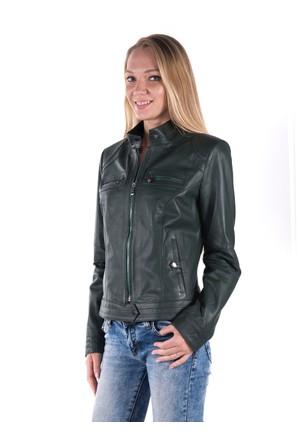 İparelde B2226 Yeşil Bayan Deri Ceket