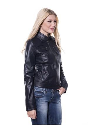 İparelde B2226 Siyah Bayan Deri Ceket